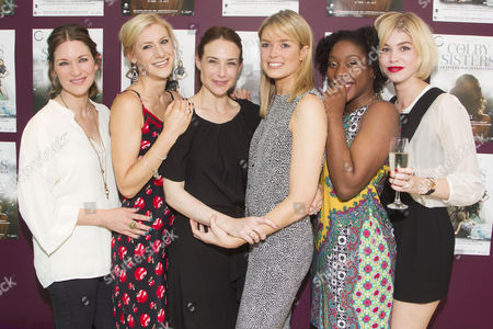 Stock Photo of Patricia Potter, Charlotte Parry, Claire Forlani, Isabella Calthorpe, Ronke Adekoluejo and Alice Sanders