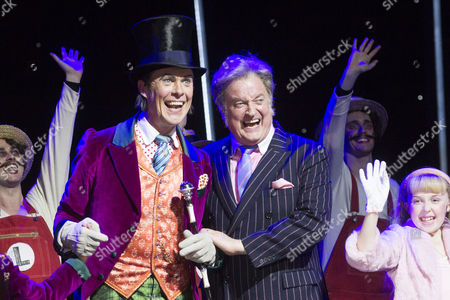Alex Jennings (Willy Wonka) and Clive Carter (Mr Salt)