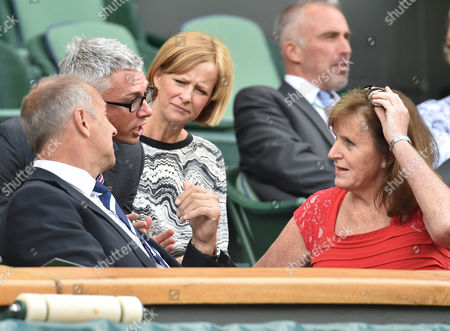 Sir Steve Redgrave, Jonathan Edwards, Alison Edwards and Ann Redgrave in The Royal Box