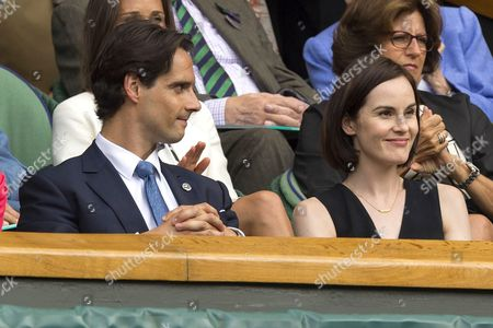 Stock Photo of Michelle Dockery with boyfriend John Dineen