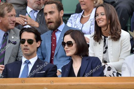 Michelle Dockery with boyfriend John Dineen and James Middleton with Pippa Middleton