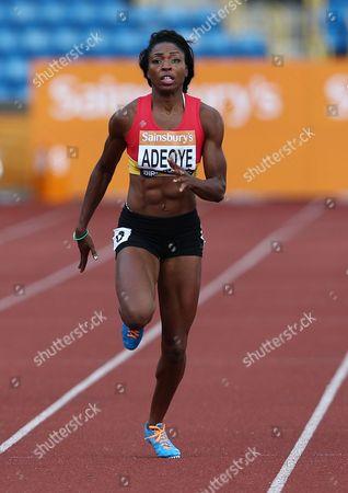 Margaret Adeoye during the Women's 200 metres