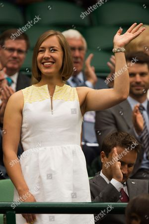 Elizabeth Yarnold  in the Royal Box on Day 6 of the 2014 Wimbledon Championships