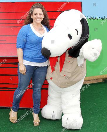 Stock Image of Marisa Jaret Winokur with Snoopy