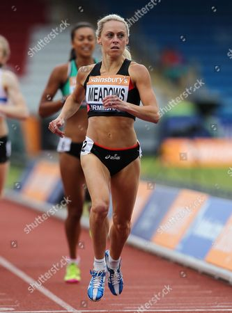 Jenny Meadows during the Women's 800 metres
