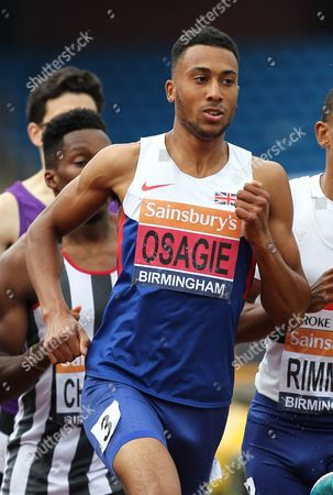 Andrew Osagie during the Men's 800 metres final