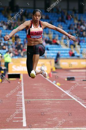 Stock Image of Yamile Aldama on her way to winning the Women's triple jump final