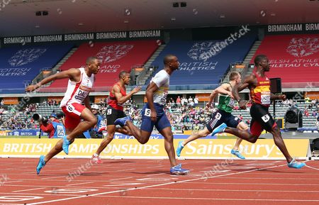 Dwain Chambers during the Men's 100 metres