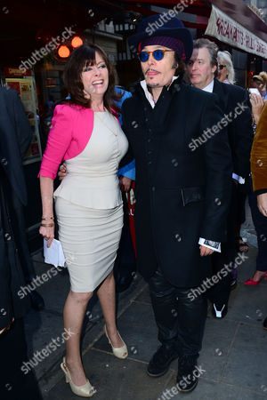 Vicki Michelle ; Adam Ant attend Brian Epstein blue plaque unveiling.