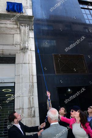 Andrew Lancel ; Adam Ant ; Vicki Michelle attend Brian Epstein blue plaque unveiling.