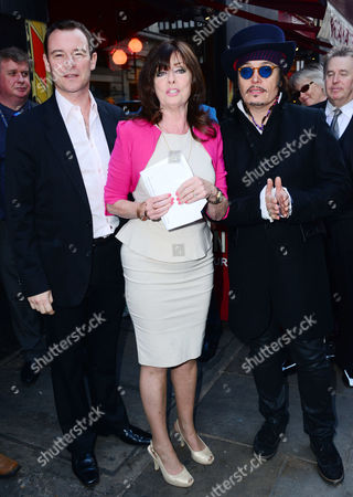 Andrew Lancel ; Vicki Michelle ; Adam Ant attend Brian Epstein blue plaque unveiling.
