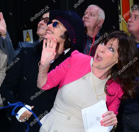 Adam Ant ; Vicki Michelle attend Brian Epstein blue plaque unveiling.