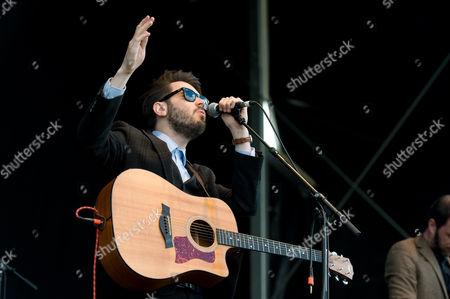 Editorial picture of Roddy Hart & The Lonesome Fire in concert, Bannockburn, Scotland, Britain - 29 Jun 2014