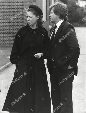 William (bill) Roache Actor And His Wife Sara At The Funeral Of Alan Browning.