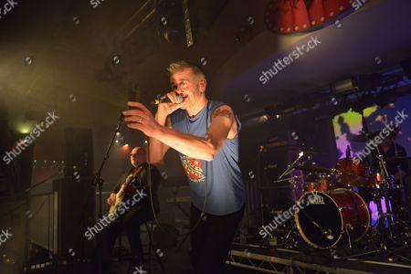 Pwllheli United Kingdom - March 20: Frontman John Dexter Jones Of English Rock Group Jump Performing Live On Stage At Hard Rock Hell Prog Festival In Pwllheli Wales On March 20