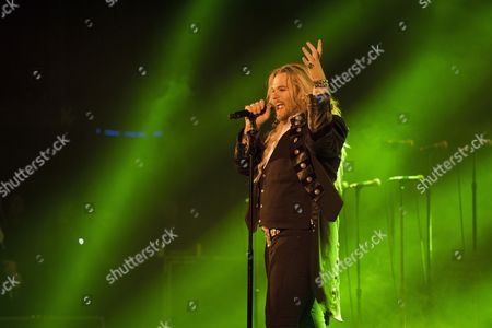 London United Kingdom - January 11: Vocalist Nathan James Of American Progressive Rock Group Trans-siberian Orchestra Performing Live On Stage At The Hammersmith Apollo In London On January 11