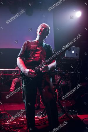 London United Kingdom - March 8: English Musician Steve Hillage Of Ambient Dance Duo System 7 Performing Live On Stage With Japanese Art Rock Group Rovo At The O2 Academy Islington London On March 8