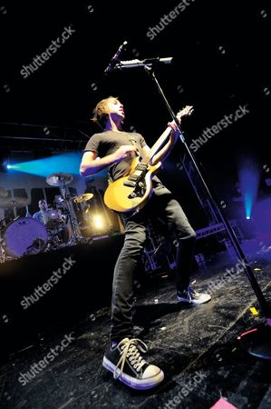 Bristol United Kingdom - January 26: Alexander Gaskarth Of American Pop Punk Group All Time Low Performing Live On Stage At The Bristol O2 Academy On January 26
