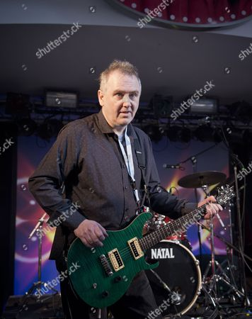 Stock Picture of Pwllheli United Kingdom - March 22: Guitarist Martin Leamon Of English Progressive Rock Group Crimson Sky Performing Live On Stage At Hard Rock Hell Prog Festival In Pwllheli Wales On March 22
