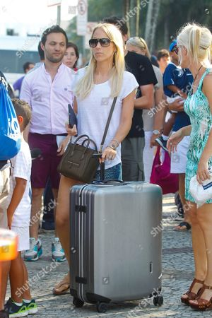 Sandra Evra leaving the Sheraton hotel