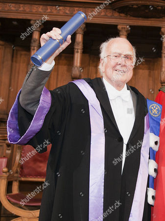 Nobel winners Professors Peter Higgs  received an honorary degree at the University of Edinburgh on Saturday, in a ceremony at which Prof Higgs will also be given the Freedom of the City of Edinburgh