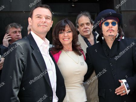 Stock Image of Andrew Lancel, Vicki Michelle MBE and Adam Ant
