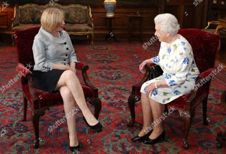 Queen Elizabeth II holds an audience with Presiding Officer of the Scottish Parliament Tricia Marwick