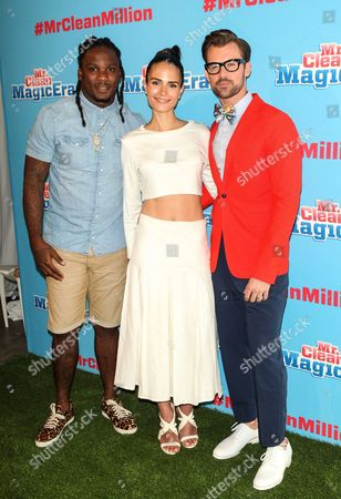 Chris Johnson, Jordana Brewster and Brad Goreski