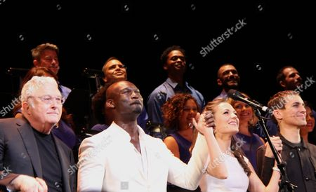 Stock Picture of Randy Newman, Isaiah Johnson, Laura Osnes, Tony Vincent