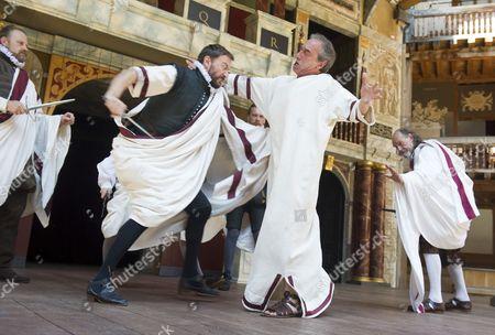 Anthony Howell as Cassius, George Irving as Julius Caesar,