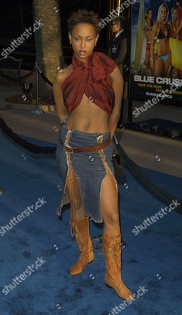 "Trina McGee-Davis arriving to the premiere of Universal Pictures' ""Blue Crush"" at the Universal Amphitheatre in Universal City, California on August 8, 2002.