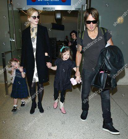 Faith Urban, Nicole Kidman, Sunday Rose Urban and Keith Urban