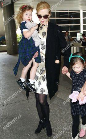 Faith Urban, Nicole Kidman and Sunday Rose Urban