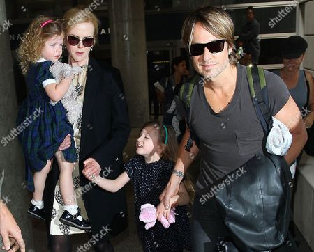Editorial picture of Keith Urban and Nicole Kidman at LAX airport, Los Angeles, America - 02 Jul 2014