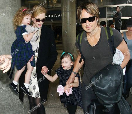 Editorial image of Keith Urban and Nicole Kidman at LAX airport, Los Angeles, America - 02 Jul 2014