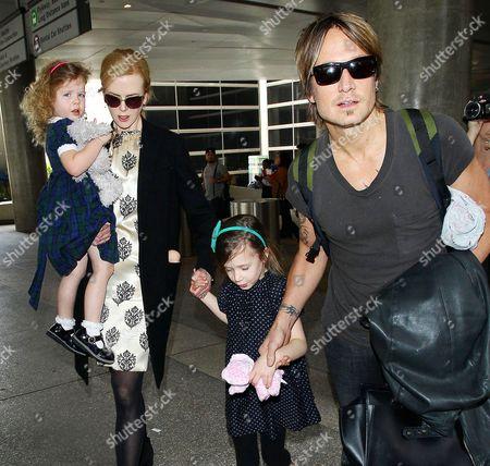 Stock Image of Faith Urban, Nicole Kidman, Sunday Rose Urban and Keith Urban