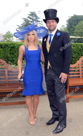 Nick Knowles With Girlfriend Jessica Moor At Royal Ascot On Ladies Day.