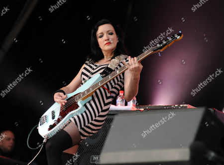 Nicole Fiorentino Of The Smashing Pumpkins On The Other Stage At Glastonbury Festival 2013 Worthy Farm Pilton Somerset 30.06.2013.
