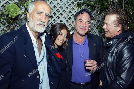 SERGIO PREMOLI WITH HEDI KHORSAND, OLIVER STONE AND MICKEY ROURKE