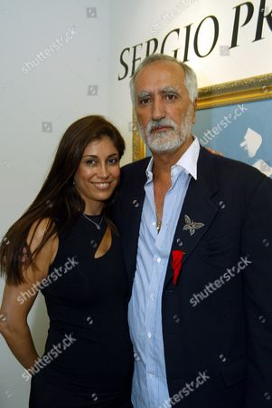 Gallery owner Hedi Khorsand and artist Sergio Premoli at an art opening celebrating the works of Sergio Premoli at the Hedi Khorsand Gallery in Los Angeles, CA