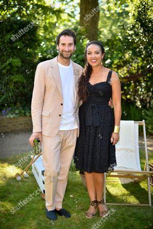 Idris Khan and Princess Alia al-Senussi