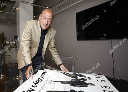 Richard Lester after the screening with the new posters for the films re-release