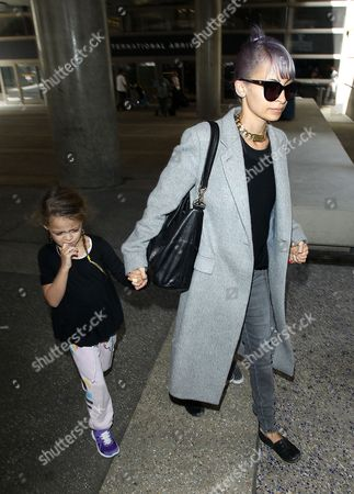 Editorial picture of Nicole Richie and children at LAX airport, America - 03 Jul 2014