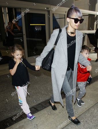 Editorial photo of Nicole Richie and children at LAX airport, America - 03 Jul 2014