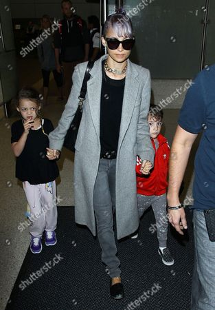 Stock Picture of Nicole Richie with daughter Harlow Madden and son Sparrow Madden