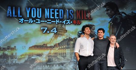 Stock Picture of Doug Liman, Tom Cruise, Erwin Stoff