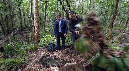 RHONA CAMERON BEING CAUGHT IN AN ANIMAL TRAP BY ANT AND DEC