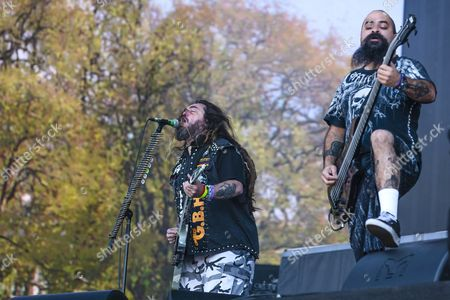 Stock Picture of Soulfly - Max Cavalera and Tony Campos