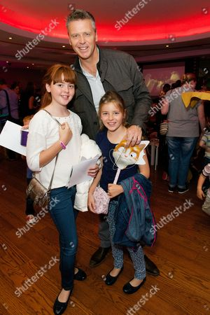 Stock Picture of Steve Backley with his daughters Ellese and Sophia