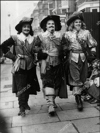 Television Programme 'the Three Musketeers'. (l-r) Roger Delgado (athos) Paul Whitson-jones (porthos) And Paul Hansard (aramis).